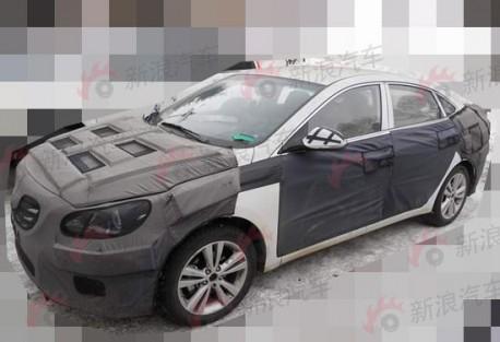 Spy Shots: new mid-size Hyundai sedan for the Chinese car market