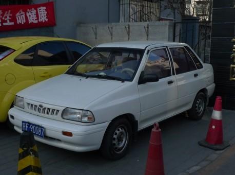 Spotted in China: Kia Pride sedan