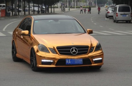Mercedes-Benz E63 AMG is Gold in China