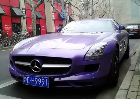 Mercedes-Benz SLS AMG is Purple in China