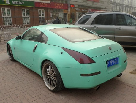 Nissan 350Z is bluegreen in China