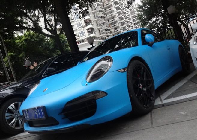 Porsche 911 Blue 2013