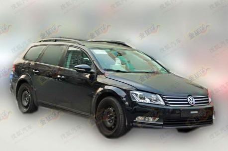 Spy Shots: B8 Volkswagen Passat Variant testing in China