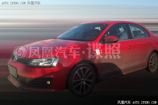 Spy Shots: Volkswagen Sagitar GLI seen testing in China