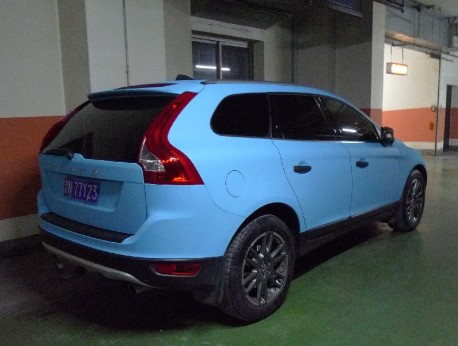 Volvo XC60 is baby blue in China
