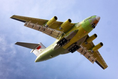 The Xian Y-20 is China's take on the Boeing C-17 Globemaster