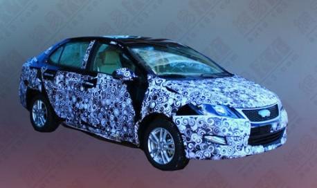 Spy Shots: Chery A2 sedan testing in China