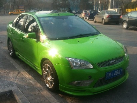Ford Focus sedan is Green in China