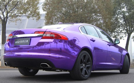 jaguar xf is shiny purple in china. Black Bedroom Furniture Sets. Home Design Ideas