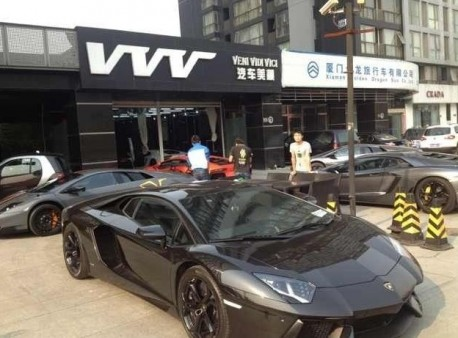 Six Lamborghini supercars in one Shot in China