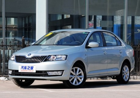 Skoda Rapid is Naked from all Sides in China