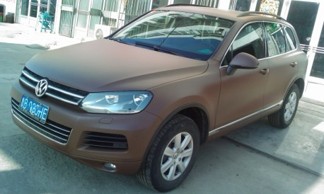 Volkswagen Touareg is matte brown in China