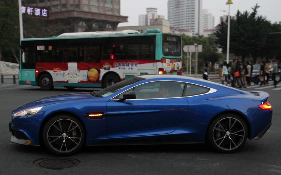 first aston martin vanquish on the road in china - carnewschina
