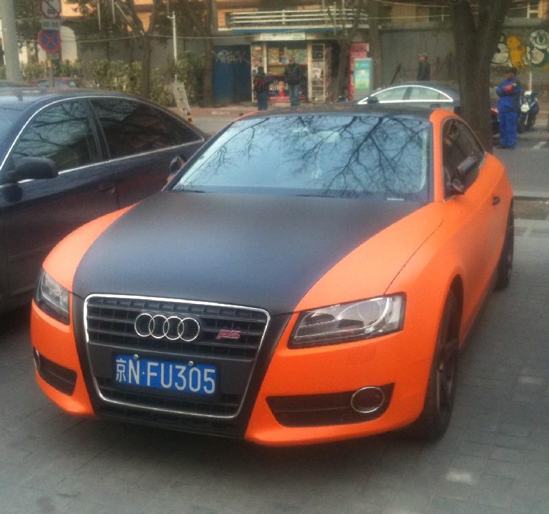 Audi S5 Coupe Is Matte Orange Matte Black In China Carnewschinacom