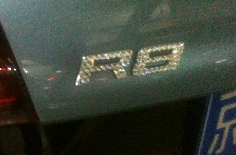 Spotted in China: Audi R8 V10 with a little Bit of Bling