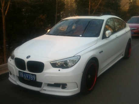 BMW 5 GT is matte white in China