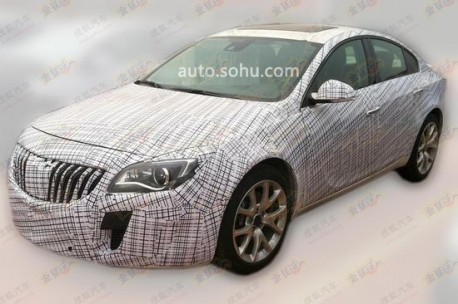 Spy Shots: facelifted Buick Regal GS testing in China