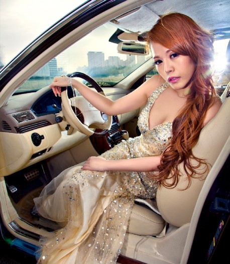 Pretty Chinese Girl is Sweet with a Maybach