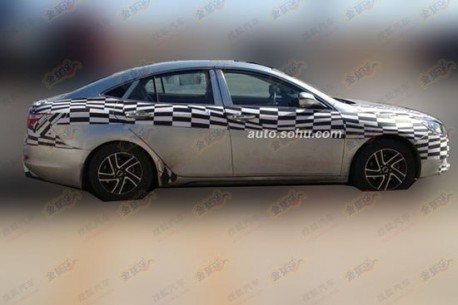 Spy Shots: new FAW-Besturn B70 testing in China