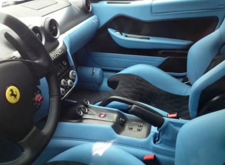Ferrari 599 GTO is Blue in China