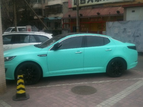 Kia K5 is matte-mint green in China