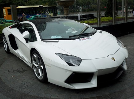 Lamborghini Aventador is White in China