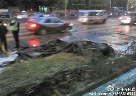 Lamborghini Murcielago Burns in China