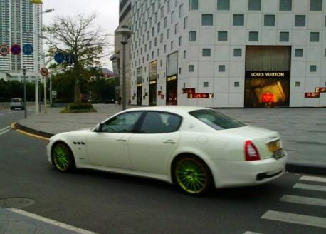 Maserati Quoatroporte with Green Alloys in China