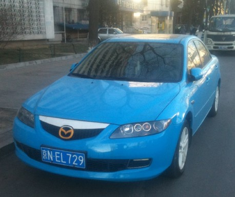 Mazda 6 is Baby Blue in China