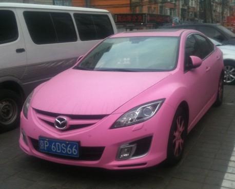 Mazda 6 Rui Yi is Pink in China