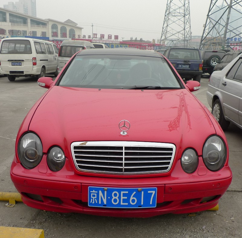 Spotted in China: W208 Mercedes-Benz CLK in Red