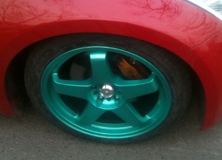 Nissan 350Z on Green Alloys in China