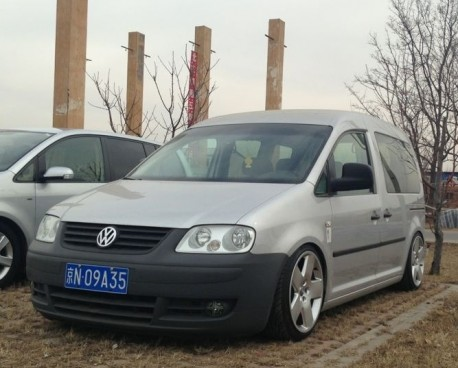 Volkswagen Caddy is a lowrider in China