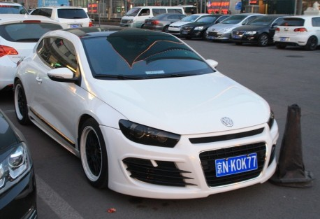 Volkswagen Scirocco with an Angry body kit in China