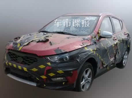 Spy Shots: FAW-Xiali T012 seen testing in China