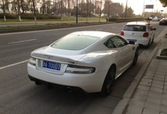 Aston Martin DBS and Mercedes-Benz SLS AMG in white & red in China