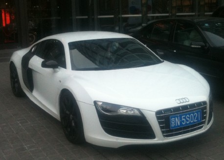 Audi R8 V10 Coupe with Black Alloys in China