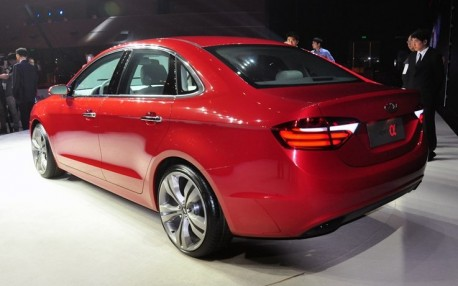 Chery Alpha 7 concept debuts before the Shanghai Auto Show