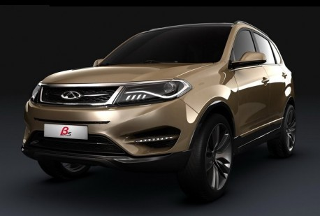 Chery Beta 5 concept SUV for the Shanghai Auto Show