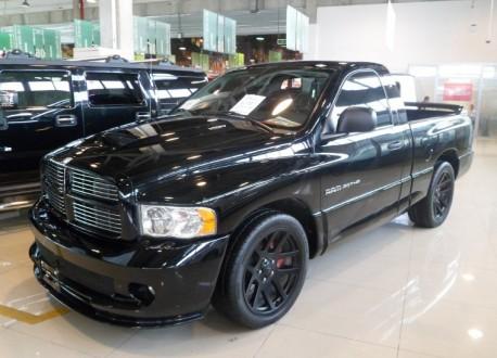 Dodge Ram SRT-10 pickup truck is Black in China