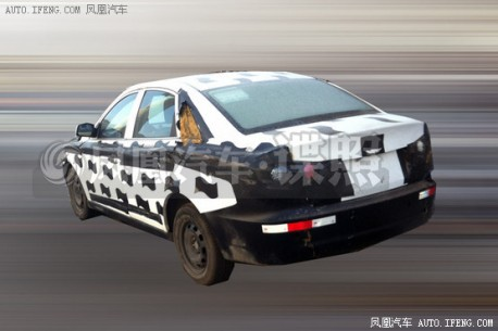 Spy Shots: Besturn B30 sedan seen testing in China