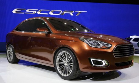 Ford Escort concept sedan debuts at the Shanghai Auto Show