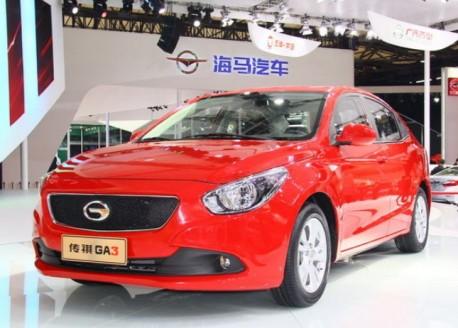 Guangzhou Auto Trumpchi GA3 hits the Shanghai Auto Show