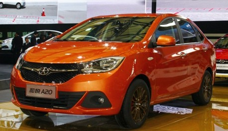 JAC A20 debuts at the Shanghai Auto Show