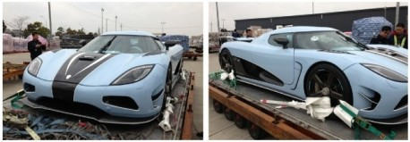Matte blue Koenigsegg Agera R arrives in China