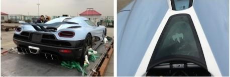 Matte blue Koenigsegg Agera R arrives in China