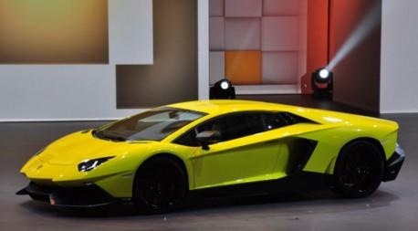 Lamborghini Aventador LP720-4 50 Anniversario Edition debuts on the Shanghai Auto Show