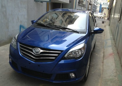 New Lifan 530 is hiding in an alley near the Shanghai Auto Show