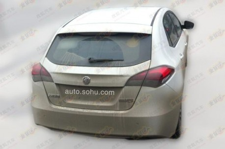 Spy Shots: MG5 Turbo seen testing in China