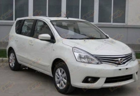 Spy Shots: facelifted Nissan Livina for the Chinese car market